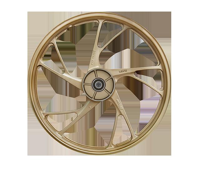 roda tubeless ex dourada moto scud